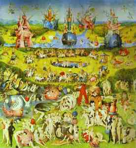 Hieronymus Bosch - The Garden of Earthly Delights - Garden of Earthly Delights (Ecclesia's Paradise)