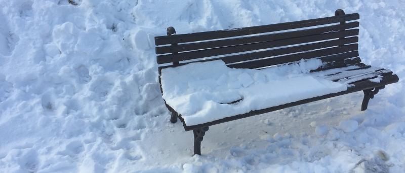 banco del parque Terazije en Belgrado. La foto tomada la semana pasada